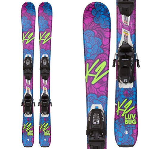 K2 Luv Bug Ski with FDT 4.5 Binding - 100 (Luv Skis)