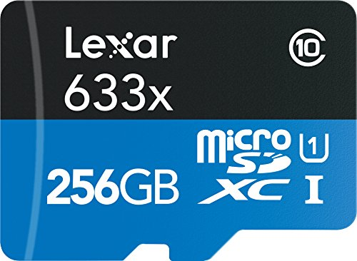 Lexar High-Performance microSDXC 633x 256GB UHS-I Card w/SD Adapter - LSDMI256BBNL633A by Lexar