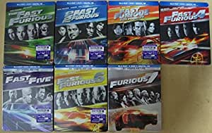the fast and the furious complete limited edition steelbook 7 movie collection. Black Bedroom Furniture Sets. Home Design Ideas