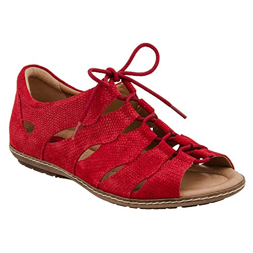 Jord Kvinna Plover Röd Sandal