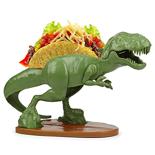 Barbuzzo TACOsaurus Rex Taco Holder - The Ultimate Prehistoric Taco Stand for Jurassic Taco Tuesdays and Dinosaur Parties - Holds 2 Tacos - The Perfect Gift for Kids and Kidults that Love Dinosaurs]()