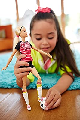 Barbie Made to Move The Ultimate Posable Soccer Player Doll from Mattel