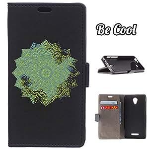 BeCool® - Funda carcasa tipo Libro para Alcatel Pop 4 protege tu Smartphone ya que se adapta a la perfección, tiene Función Soporte, ranuras para tus tarjetas y billetes sin olvidar nuestro exclusivo diseño
