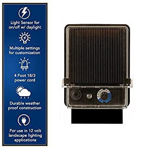 Moonrays Electric Power Pack For Outdoor Low Voltage Lighting With Light Sensor and Rain-Tight Case (120-Watt)
