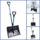 18-in Strain-Reducing Snow Shovel w/ Spring Assisted Handle New