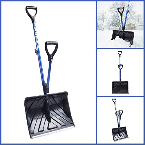 18-in Strain-Reducing Snow Shovel w/ Spring Assisted Handle New by Home & Comforts
