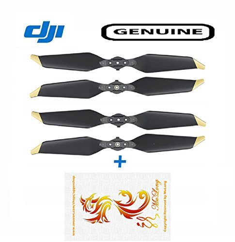 2 Pairs DJI Mavic Pro Platinum Low-Noise Quick-Release Propellers(Golden Tip) - OEM