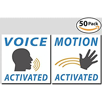 Voice & Motion Activated Prank Stickers, 50 Pack. Make Your Friends Publicly Yell & Vigorously Jazz Hand at Vending Machines & Doors. Hilarious & Unique Practical Joke. Funny Gag Gift for Huge Laughs.