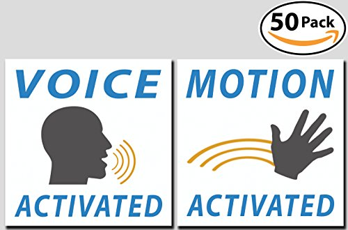Voice & Motion Activated Prank Stickers, 50 Pack. Make Your Friends Publicly Yell & Vigorously Jazz Hand at Vending Machines & Doors. Hilarious & Unique Practical Joke. Funny Gag Gift - Best Home Fools Pranks April