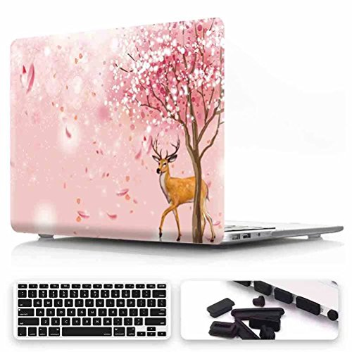 Macbook Pro 13 Case 2016/2017 Release, VMAE Cherry Blossom Design Lightweight Cover, Ultra Slim Laptop Hard Shell With Keyboard Cover for Macbook Pro 13