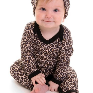 8fe3e51c77677 Rockabilly Baby Clothes - Leopard Print Baby Clothes - Leopard Baby  T-shirt/Trousers/Hat/Booties (0-3 months): Amazon.co.uk: Baby