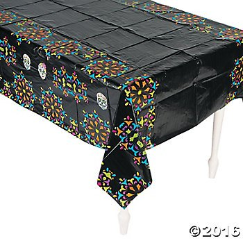 [Day of the Dead Table Cover - Size: 54