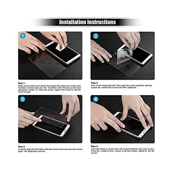 "REY Protector de Pantalla para iPhone 6 6S 4.7"" Cristal Vidrio Templado Premium 10"