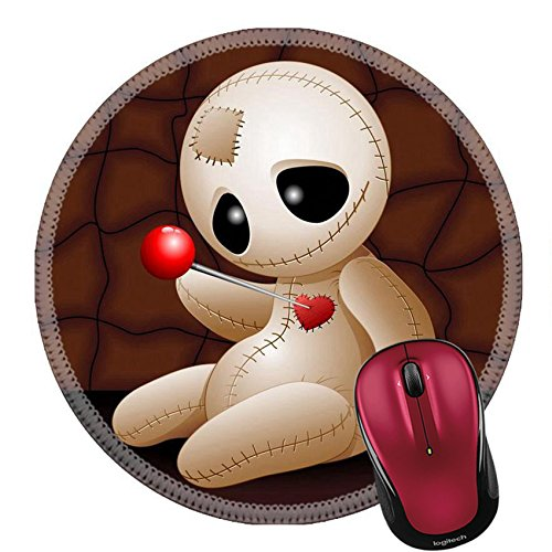 Liili Round Mouse Pad Natural Rubber Mousepad IMAGE ID: 23107052 Voodoo Doll Cartoon in Love x (Halloween Love Superstitions)