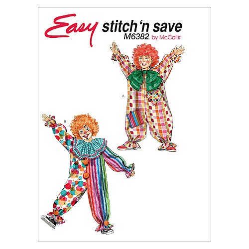 McCall's Patterns M6382 Clown Costumes, All Sizes (Clown Costume Patterns)