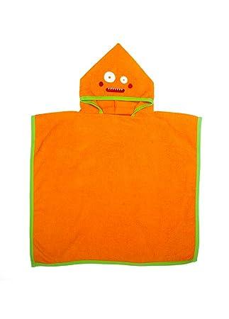 Poncho Colección Monstruos - Ama de Casa (Fito Naranja Clementina): Amazon.es: Hogar