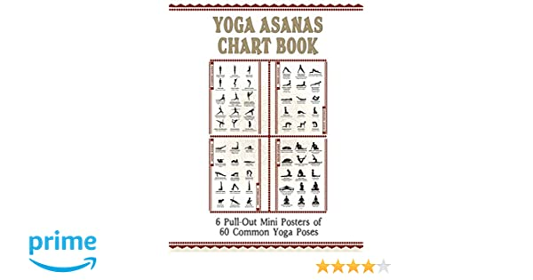 Yoga Asanas Chart Book Mini Posters : lllustrated Chart of ...