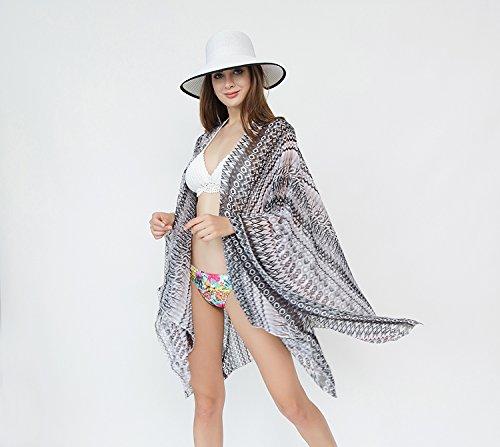 Copricostumi Donna Costumi Sciarpe amp; Spiaggia Felix Protezione E Bambine Vacanza Da Uv Solare Grigia Wrap Scuro Silk Ragazze Bagno twYSq4BS