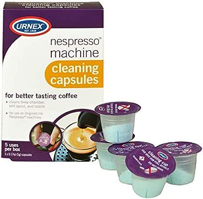 Urnex Nespresso cápsulas de máquina de limpieza, 5 Count ...