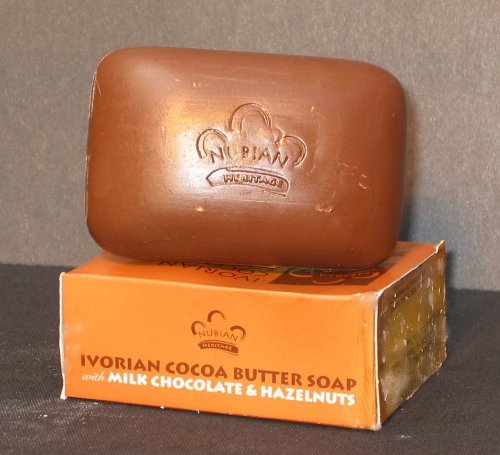 Ivorian Cocoa Butter Soap with Milk Chocolate & Hazelnuts by Nubian Heritage 5 OZ