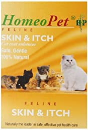 Homeopet CHO04722 Feline Cat Skin and Itch Relief Remedy, 15ml