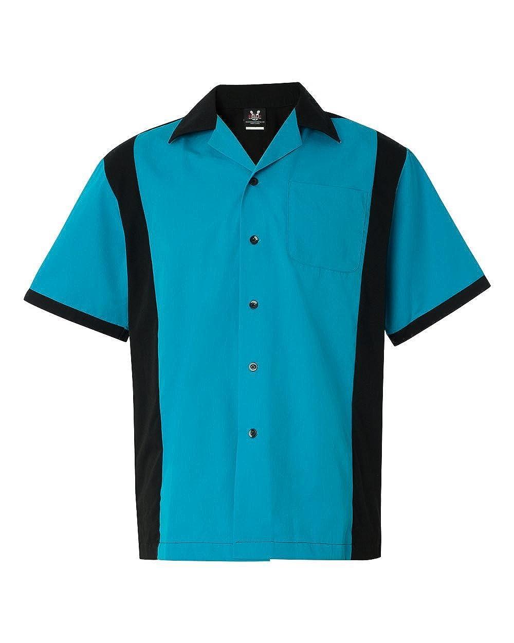 Hilton SHIRT メンズ B01EGM0AIE Turquoise/ Black M
