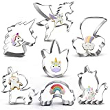 "Unicorn Cookie Cutter Set-3.5""3""-7 Piece-5 Unicorn Face&Head, Rainbow, Shooting Star, Fantasy Unicorn Fondant Molds for Kids Holiday Wedding Birthday Party Supplies Favors."
