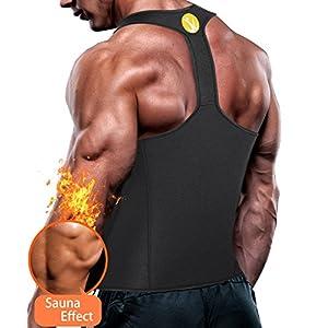 5841d234047f5 Junlan Men Workout Tank Top Vest Gym Shirt Weight Loss Dress Waist Body  Shaper Sauna Suit Slim Corset Compression Clothes
