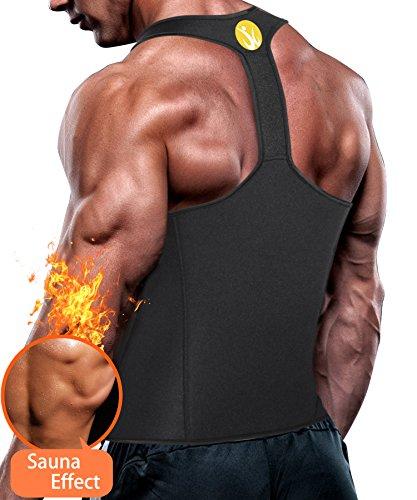 456864698c Junlan Men Workout Tank Top Vest Gym Shirt Weight Loss Dress Waist Body  Shaper Sauna Suit