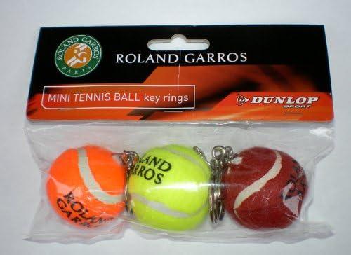 Dunlop - Llaveros (3 unidades), diseño de pelota de tenis de ...