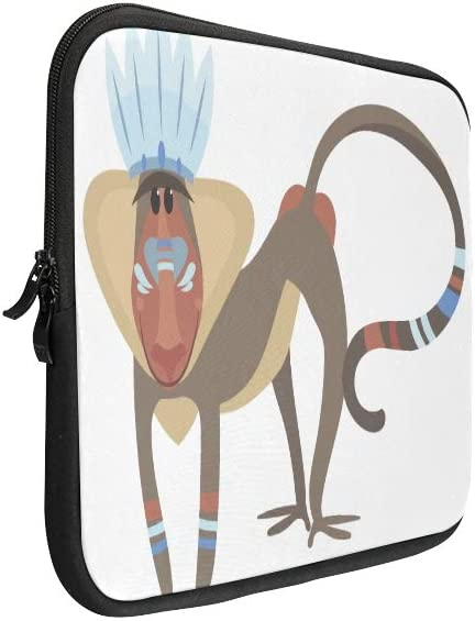 Unique Custom Baboon Monkeys and Colorful Faces and Buttocks Print Briefcase Laptop for Men Soft Girls Laptop Case Briefcase Protective for MacBook Air 11