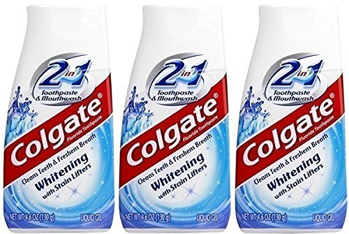 Colgate 2-in-1 Whitening Toothpaste with Stain Lifters, 3 Count