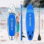 MaxKare-Stand-Up-Paddle-Board-Gonfiabile-SUP-W-Stand-up-Paddle-Board-Accessori-Zaino-Paddle-Guinzaglio-Pompa-Antiscivolo-Piattaforma-ISUP-Pesca-Yoga-Rigido-Solido-10–30–6-Spessore-Adulto-e