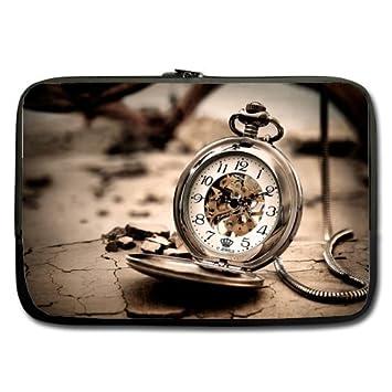 Barato y bonito funda blanda para portátil de 13, Estado de ánimo antiguo reloj de bolsillo (doble cara, sin correas): Amazon.es: Electrónica