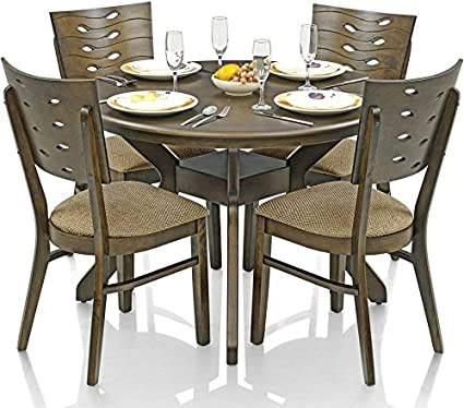 Royal Oak Sydney Dining Set With 4 Chairs (Walnut)