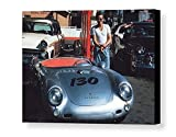 Rare Framed Last Photo Taken of James Dean. With his Porsche 550 Spyder Vintage Jumbo Giclée Print