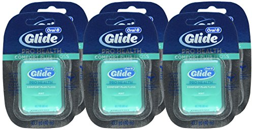 - Oral-B Glide Pro-Health Comfort Plus Dental Floss, Mint, 43.7-Yard Dispenser, (Pack of 6)