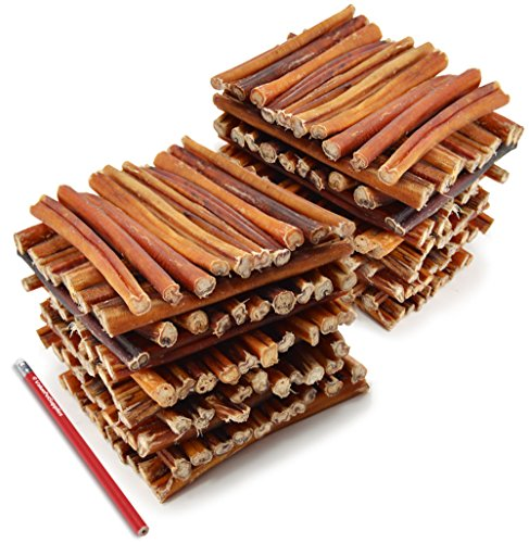 ValueBull All Natural 6 Inch Thin Bully Stick Dog Treats, 200 Count by ValueBull