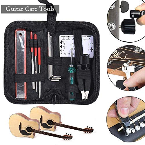 Guitar Repair and Maintenance Tools Accessories Kit Portable Bag Guitar Files Fret String Cutter