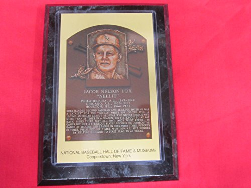 Hall Of Fame Plaque - Nellie Fox 1997 Hall of Fame Induction Postcard Plaque NEW!!