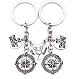 O.RIYA Best Friends No Matter Where Compass Keychain Review and Comparison