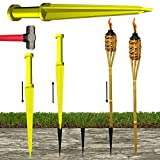 KEYFIT Tools TIKI TORCH TOOL Solid Steel, Make Perfectly Straight Pilot Holes for Tiki Torches Bust Through Rock, Hardpan & Clay! Works with Bamboo garden torches, copper torches, Torch Fuel oil