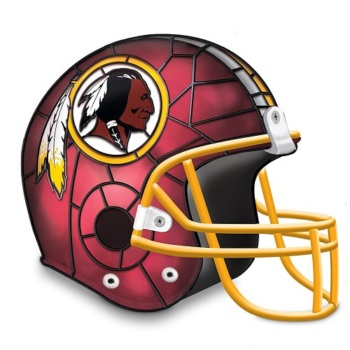 NFL Washington Redskins Accent Helmet Lamp by The Bradford Exchange