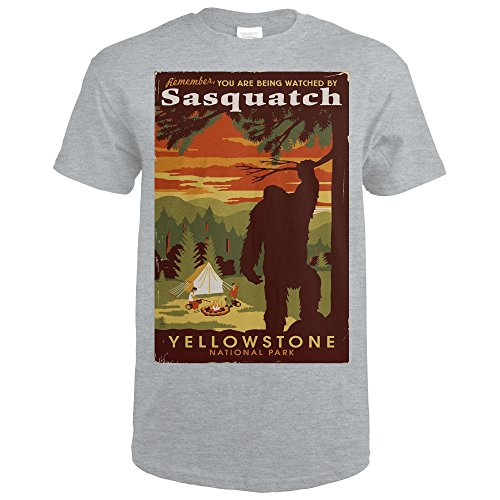 Yellowstone National Park - You Are Being Watched By Sasquatch (Sport Grey T-Shirt XX-Large)