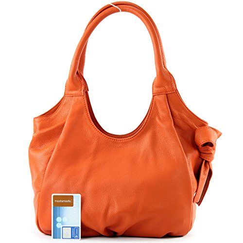 It28 Orange Nappa Signore Tracolla Pelle Italiane De Modamoda Borsa A In H4vzzq