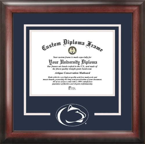 Amazon Com Campus Images Penn State University Spirit Diploma Frame Sports Fan Diploma Frames Sports Outdoors