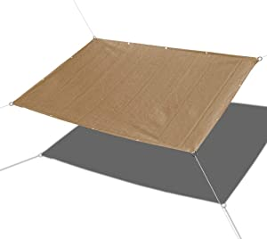Alion Home Sun Shade Sail - Straight Edge Shade Sail - Shade Cloth for Patio, Pergola, Playground Shade Sails, Backyard Sails, Sail Awning, Deck Shade Sail (10 x 14 FT, Walnut)