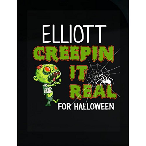 Prints Express Elliott Creepin It Real Funny Halloween Costume Gift - Sticker -