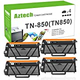 AZTECH 4PK 8000 High Yield Black Compatible TN850 TN-850 TN820 HL-L6200DW MFC-L5900DW Toner Cartridge for Brother HLL6200DW HL-L6200DWT HL-L5100DN HL-L5200DW MFC L5850DW L6800DW Business Laser Printer
