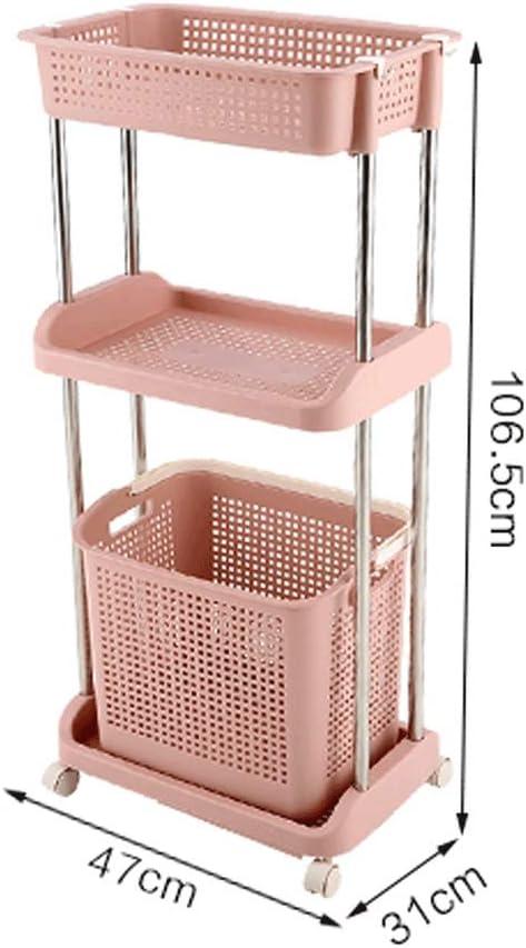 Panier à linge LF- Panier à linge à la maison nordique panier de rangement en plastique pour poussette, vêtements de salle de bain grand panier de rangement Bleu-a